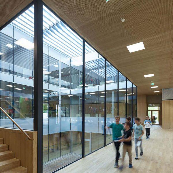 Mittelschule Egg Alu Glasfassade